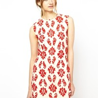 Vanessa Bruno Athe Dress with Paisley Embroidery