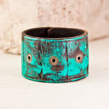 Turquoise Jewelry, Leather Cuffs, Bracelets, Wristbands, Southwest, Hippie, Hippy, Jewellery, 2014, January Finds, New Years Eve On Sale