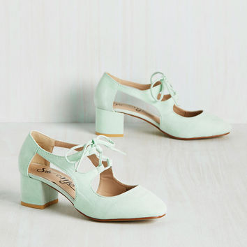 New Orleans Lease on Life Heel in Mint | Mod Retro Vintage Heels | ModCloth.com
