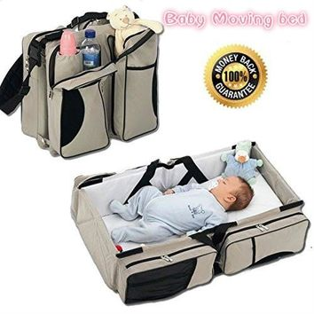 3 in 1 - Diaper Bag - Travel Bassinet - Change Station