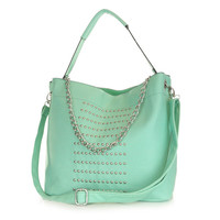 MINT SLOUCHY STUDDED HANDBAG