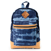 Baja Bags Washed Denim Blue & White Backpack at Zumiez : PDP