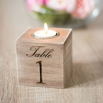 Table Numbers Wedding Wooden Table Numbers Holder Rustic Wedding Decoration Centerpiece Table Numbers Candle Holder