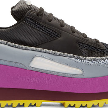 Black adidas by RAF SIMONS Platform Light-Up Sneakers