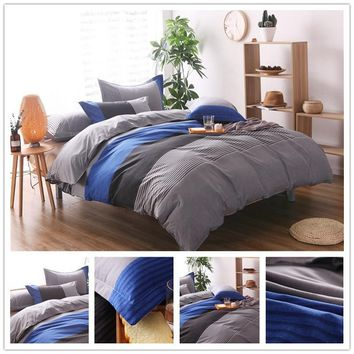 Striped Bohemian Bedding Set Soft Polyester Bed Linen Duvet Cover Pillowcases 2/3pcs Bed Sets Home Textile Queen Coverlets