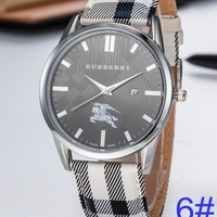 BURBERRY Watch Wome's Men Classic Plaid print Watches B-PS-XSDZBSH Black