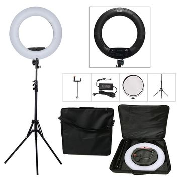 "Yidoblo Black FS-480II 2 Colors adjust Camera Photo/Studio/Phone/Video 18""55W 480 LED Ring Light LED Lamp+ 2M tripod +Soft bag"