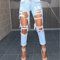 Toby Light Blue Boyfriend Jeans