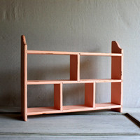 Pink Cottage Farmhouse Shelf Unit : vintage