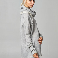 Light Gray Turtleneck Tunic