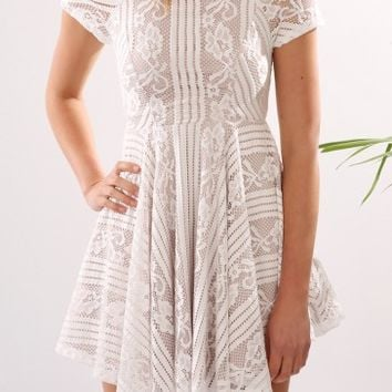 Zali Lace Dress White