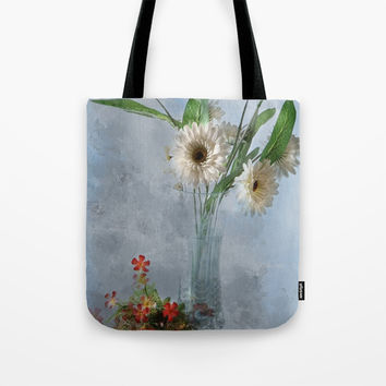 Wildflower Still LIFE Tote Bag by Theresa Campbell D'August Art