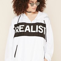 Plus Size Realist Graphic Hoodie