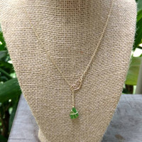 Sea Glass Heart Lariat Necklace