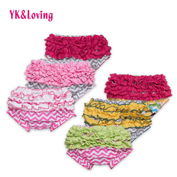 2016 Newborn Baby Cotton Ruffles Shorts Children Girls Boys Bloomers Striped PP Panties Kids Cute Minions Infant Underwear
