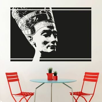 Egyptian Queen Nefertiti Wall Decal. African Theme Home Decor. #5038