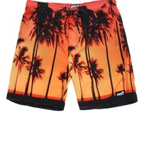 Neff Hot Tub Palm Tree Boardshorts - Mens Board Shorts - Orange