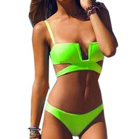 CREY7ON GREEN BIKINI SWIMWEAR