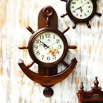 Vintage Wooden Quiet Decoration Clock [6282928646]