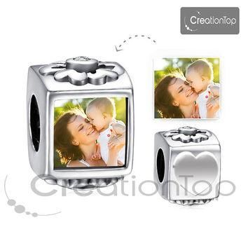 SALE Personalized charm for any Pandora bracelet Memory charm bead with your own desig