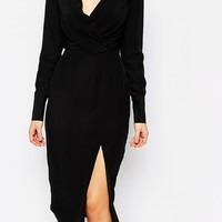 C/meo Collective Bedroom Wall Longsleeve Dress in Black at asos.com