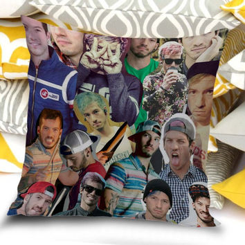 twenty one pilots josh dun collage Pillow Case / Pillow plus Insert