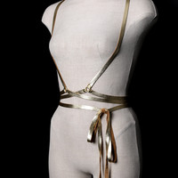 Classic Leather Wrap Harness Gold