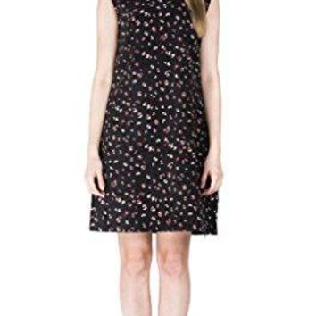 Eyekepper Womens Sleeveless Floral Print Shift Dress