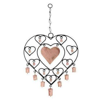 Fashionable Metal Heart Windchime