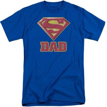 ac NOOW2 Superman - Super Dad Short Sleeve Adult Tall
