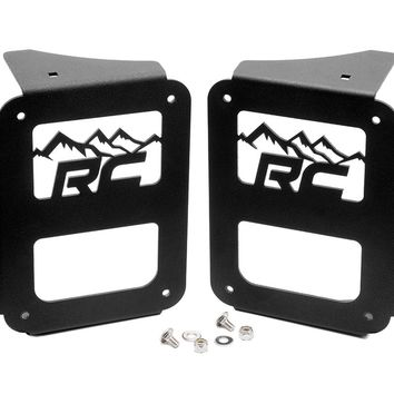 Jeep Wrangler JK Wrangler JK Tail Light Covers - Mountain Design (Pair) 2007 - 2018