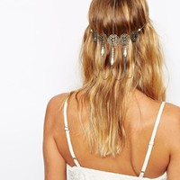 ASOS Filigree Faux Pearl Back Hair Crown
