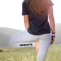 Yoga Leggings - Namaste Leggings - Yoga Pants - Yoga - Yoga Legging - Yoga Leggins - Women's Yoga Leggings - Printed Yoga Leggings