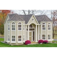 Amazon.com: 10 x 16 Grand Portico Mansion Panelized Kit: Toys & Games