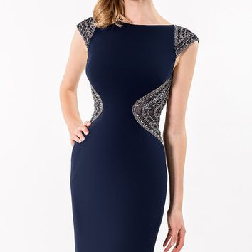 Beaded Open Back Dress by Terani Couture Evening