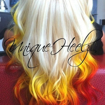 "SUNSET - 18"" 100% Real Human Hair Extensions Keratin Stick i-Tip (6) - FREE SHIPPING"