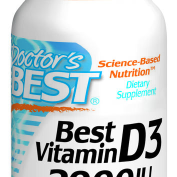 Doctor's Best Best Vitamin D3 2000 IU 180 Softgel Capsules