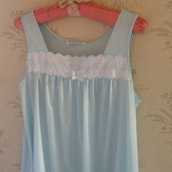 Wendy Moira Angela Darling | Vintage Blue Nightgown | Pale Blue Nightgown | Ethereal | Pale Blue Dress | Baby Blue
