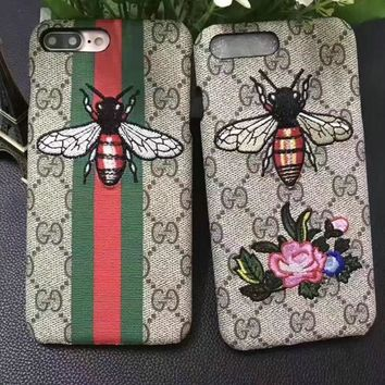 Embroidery GUCCI iPhone Phone Cover Case iphone 6- 6s -6plus- 6s-plus 7 -7plus Protective Case