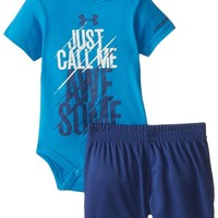 Under Armour Baby-Boys Newborn Swag's Here Set Blue