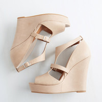 BC Footwear By and Bisect Wedge | Mod Retro Vintage Heels | ModCloth.com