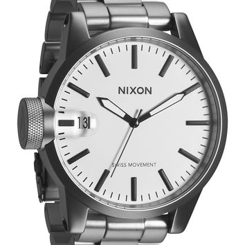 Nixon Chronicle SS White Dial Stainless Steel Mens Watch
