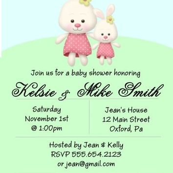 10 Bunny Baby Shower Invitations