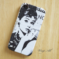 Audrey Hepburn iPhone 5 case / iPhone 5S case / iPhone 4 case / iPhone 4s case / iPhone 3G case / iPhone 3GS case