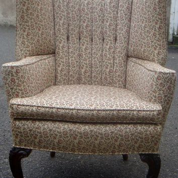 Vintage High Channel Backed Wing Chair!!