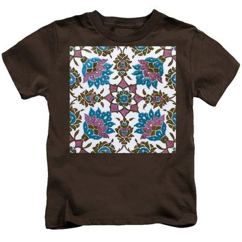 An Ottoman Iznik Style Floral Design Pottery Polychrome, By Adam Asar, No 13h - Kids T-Shirt