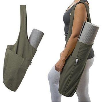 Green Yoga Mat Bag by Yogiii The YogiiiTote Yoga Mat Tote Sling Carrier
