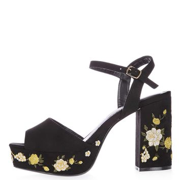 MAGNOLIA Embroidered Platforms | Topshop