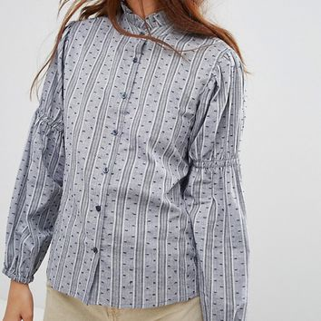 QED London Shirt With Frill Collar at asos.com