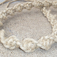 Natural Phatty Thick Spiral Hemp Necklace long Unisex customs